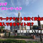 ディズニーワールドのパークチケットを格安で安全に購入できるサイトは?日本語で買えるの?